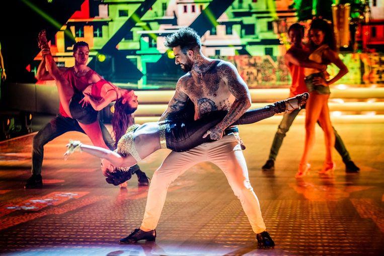 Fabrizio en zijn danspartner in 'Dancing With The Stars'