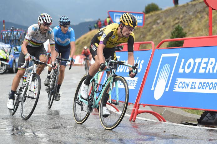 Primoz Roglic tijdens de Vuelta.