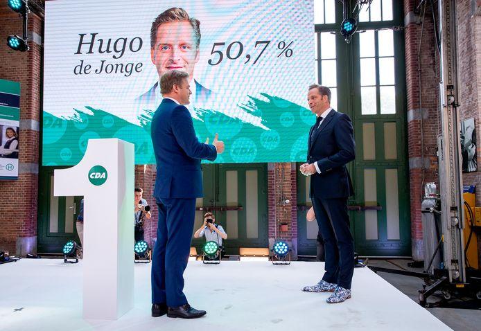 Hugo de Jonge won bij de lijsttrekkersverkiezing nipt van Pieter Omtzigt