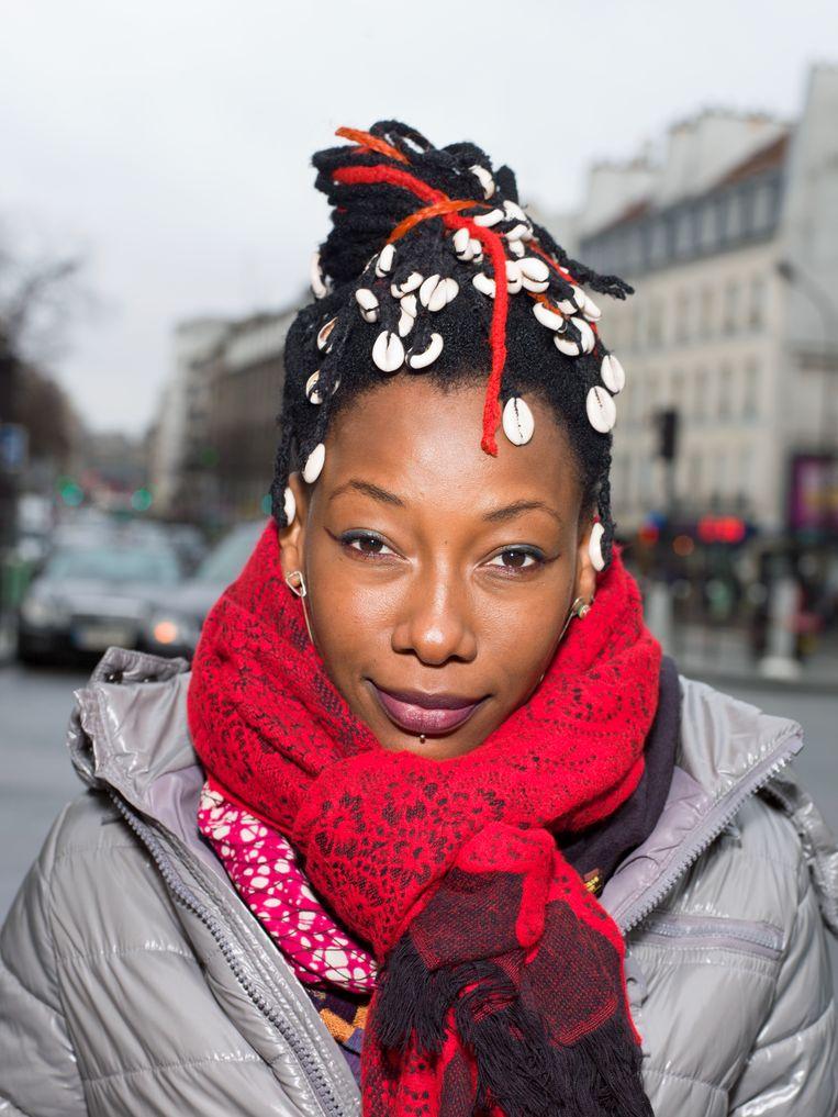 Zangeres Fatoumata Diawara in 2013 in Parijs. Beeld Ivo van der Bent