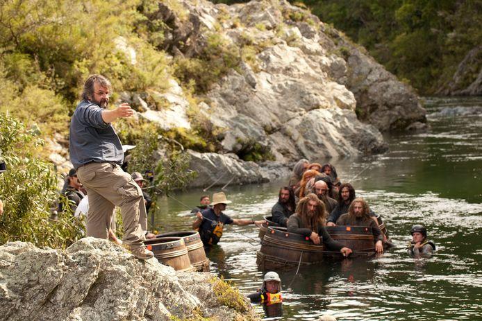 Peter Jackson bij opnames The Hobbit