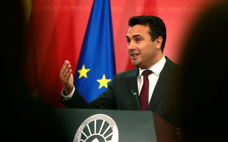 Premier Zoran Zaev van Noord-Macedonië Beeld AP