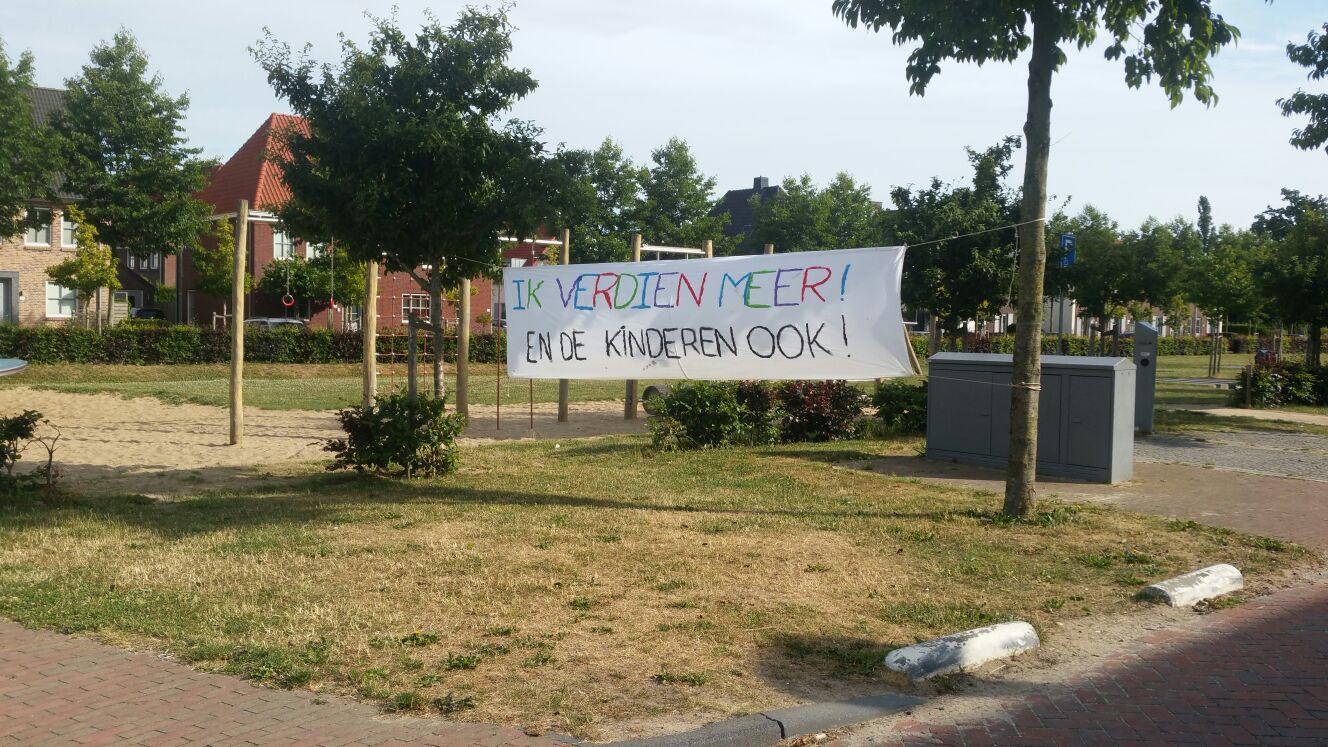 Actie op De Trinoom in Wijchen, een van de scholen van Kans en Kleur.