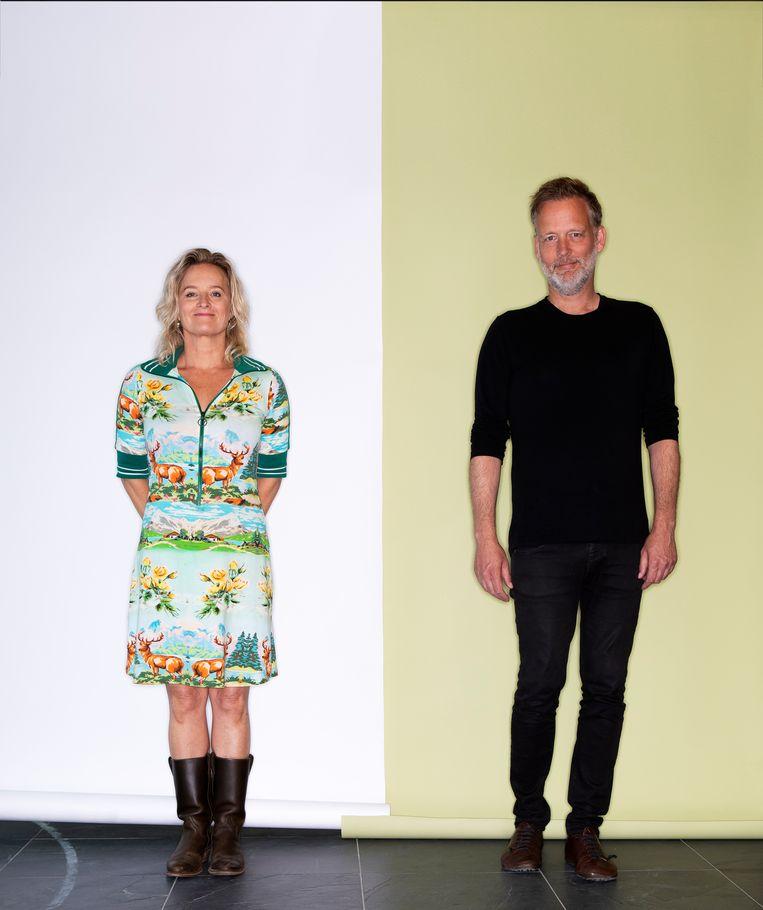Martine Sandifort en Erik Jan Harmens. Beeld Martijn Gijsbertsen
