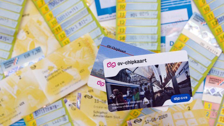 De strippenkaart verdwijnt donderdag uit Amsterdam. Foto ANP Beeld