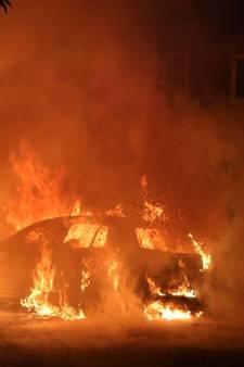 VIDEO: Auto brandt uit aan Schouwveld in Zeeland