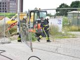 Glaslek door sloopwerkzaamheden in Etten-Leur, lek te groot voor brandweer om te dichten
