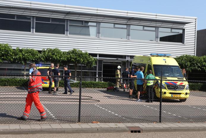 Gewonde door steekvlam in bedrijf Den Bosch