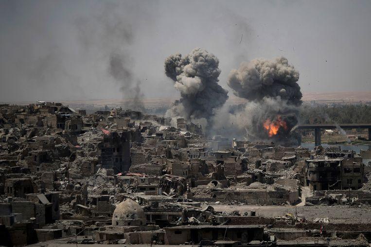 De herovering van de Iraakse stad Mosoel op Islamitische Staat in 2017 duurde weken.