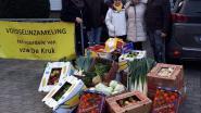 N-VA schenkt 400 kilogram groenten en fruit aan De Kruk