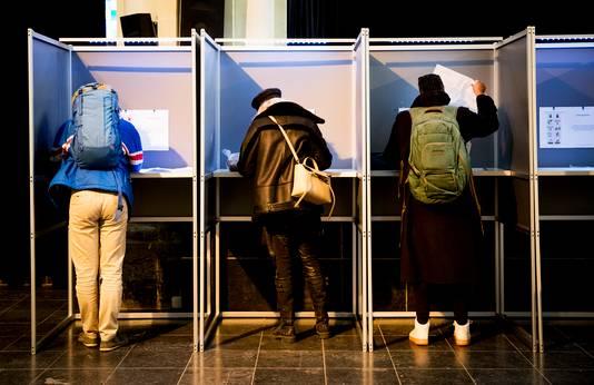 Stemmen gisteren in de Posthoornkerk in Amsterdam.
