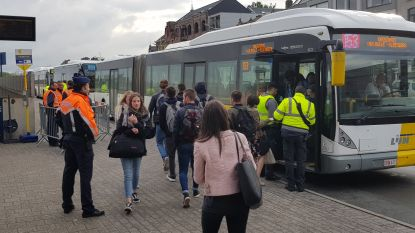 Grote controleactie aan station Halle