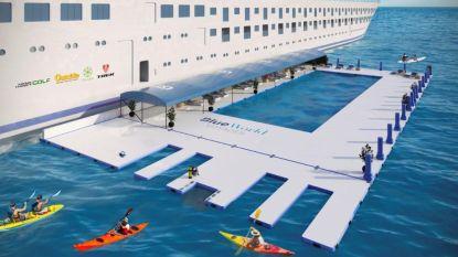 Cruiseschip pakt uit met uniek zwembad in de oceaan