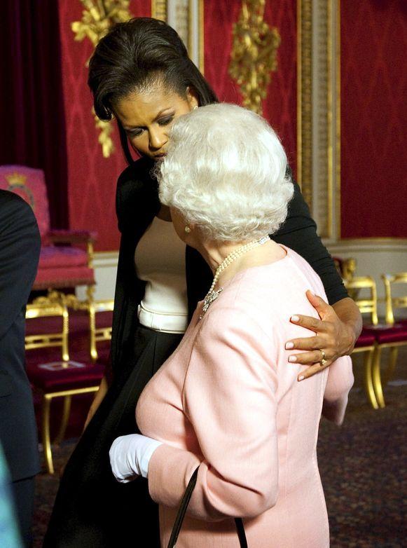 De faux pas van Michille Obama.