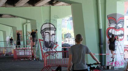 Viaduct A12 is speelterrein voor graffiti-artiesten