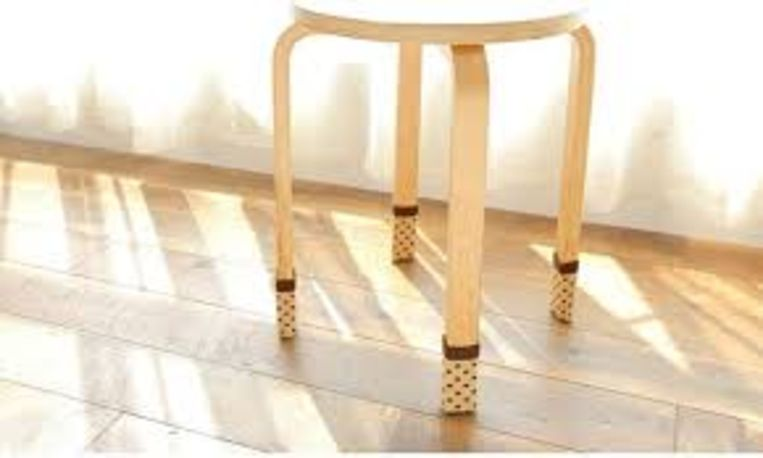Doe-het-zelf: gebreide tafelpootbeschermers
