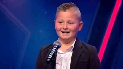 Mondig volkszangertje Pietje (9) grote hit op sociale media na grappige doortocht in 'Holland's Got Talent'