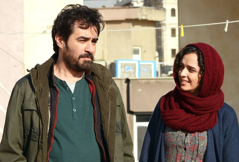 Shahab Hosseini en Taraneh Alidoosti in The Salesman. Beeld