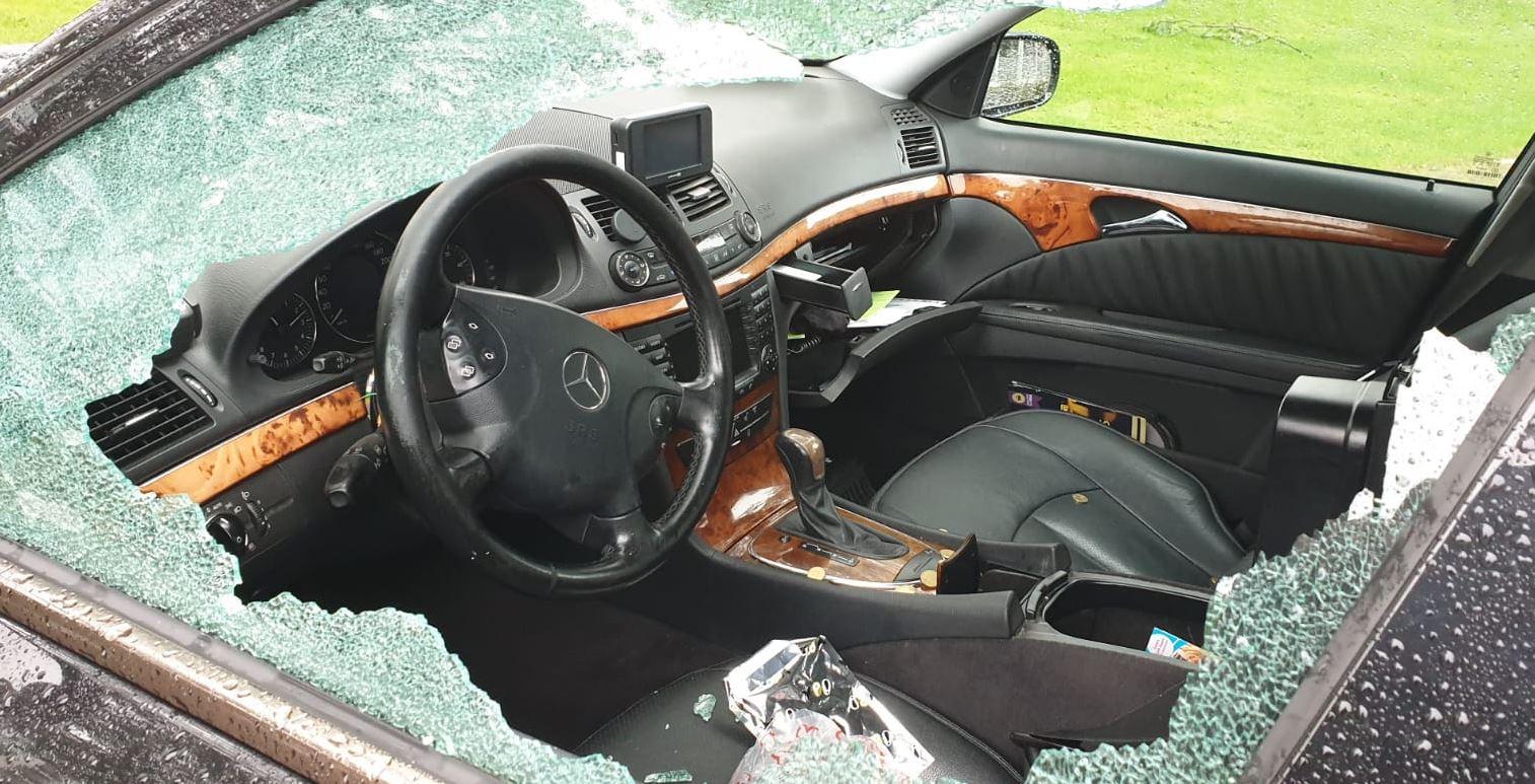 In de taxi van Tarik Amouri werd zondagochtend ingebroken in Breda.