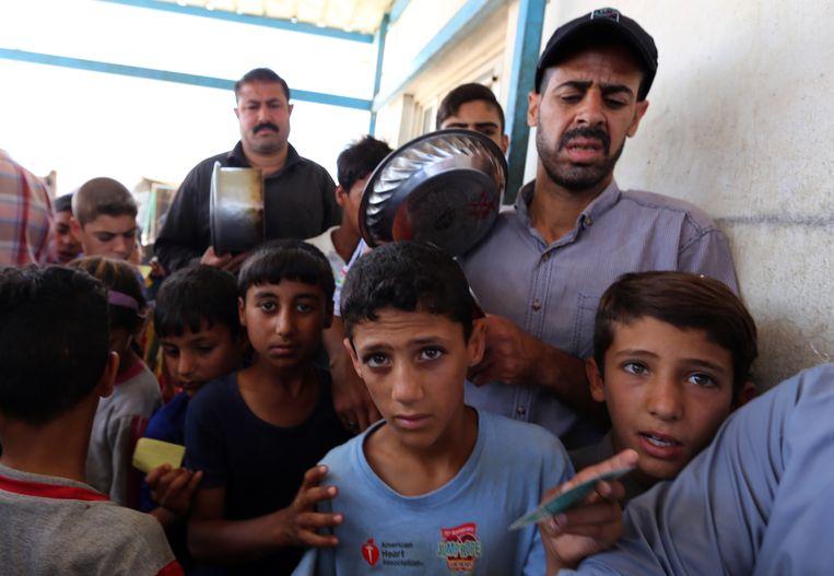 Slechts enkele honderden gezinnen wisten uit Fallujah te vluchten.