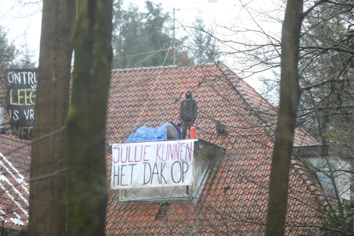 Kraker op het dak in Zeist.