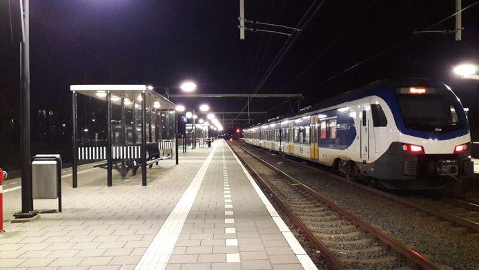 Een sprinter op het station van Wijchen.