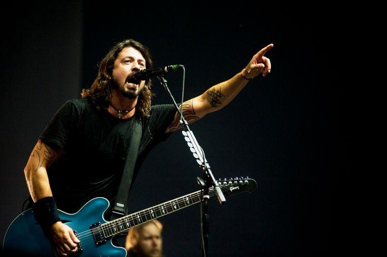 Foo Fighters Dave Grohl 18 august 2012 Pukkelpop festival photo: Alex Vanhee Beeld Alex Vanhee