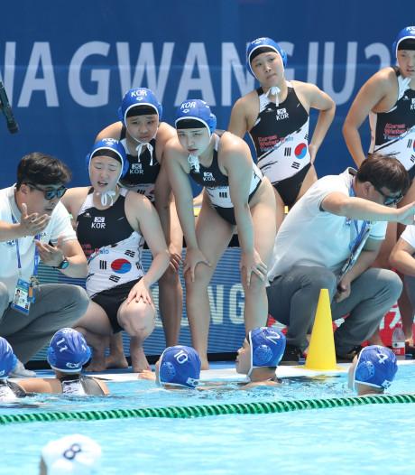 WK-record: waterpolosters Hongarije verslaan gastland Zuid-Korea met 64-0