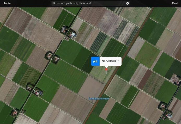 Volgens Apple Maps ligt Den Bosch in de buurt van Luttelgeestervaart.
