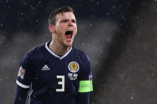 Schotland-aanvoerder Andrew Robertson is blij met de promotie naar League B.