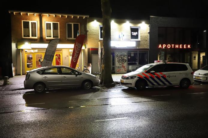 De politie ter plaatse na de overval van vrijdag.