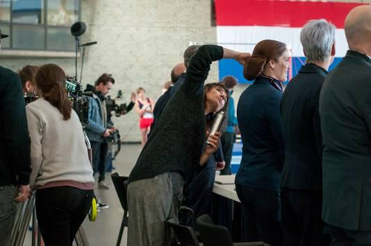 De set van bioscoopfilm Goud in sportcentrum De Scharen in Breda.