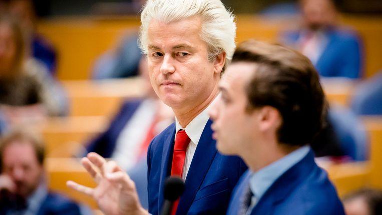 Thierry Baudet en Geert Wilders verenigen samen een vijfde van het electoraat Beeld anp