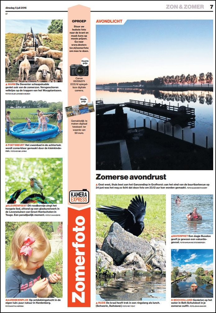 De eerste aflevering van Zomerfoto stond vandaag in de krant. Er volgen er nog heel veel.