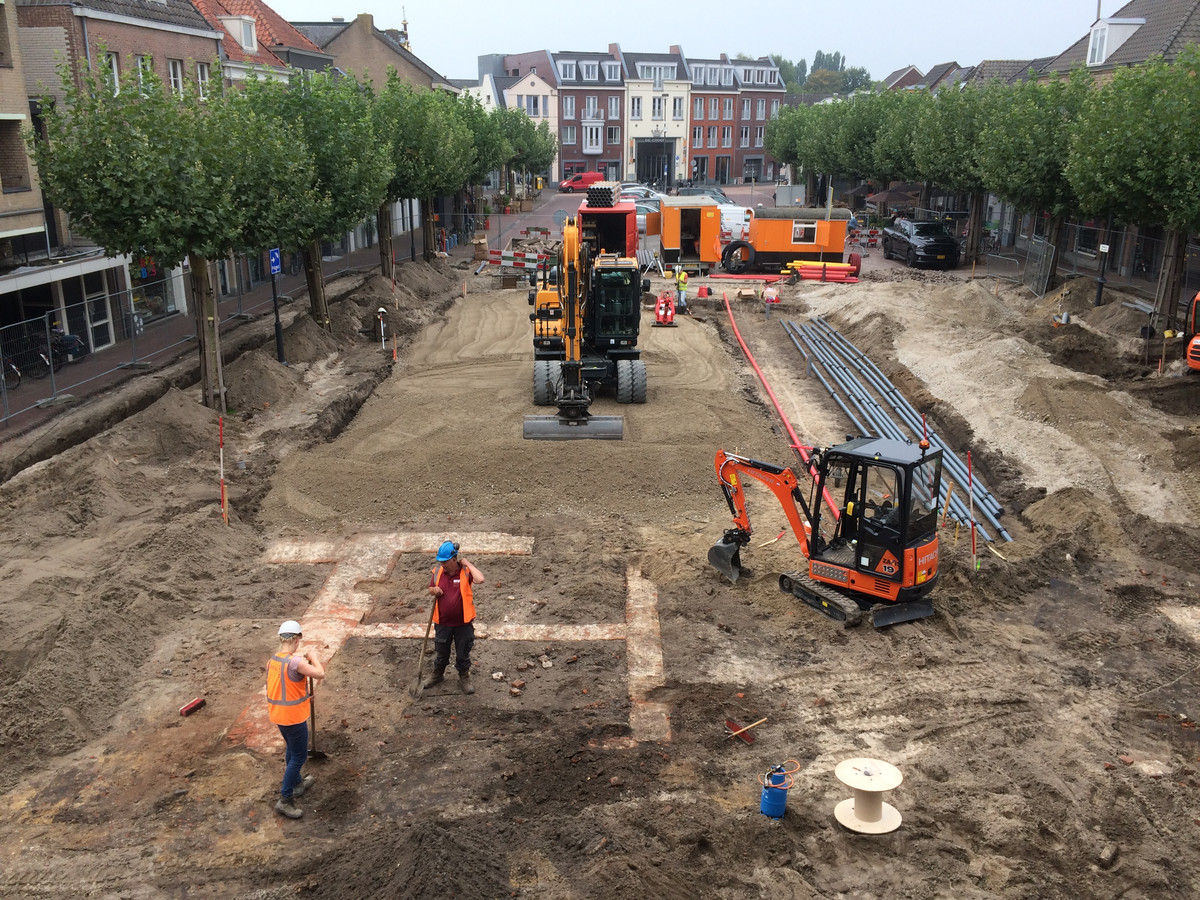 Een overzicht op het archeologisch werk dat BAAC nu uitvoert op de Markt in Boxtel.