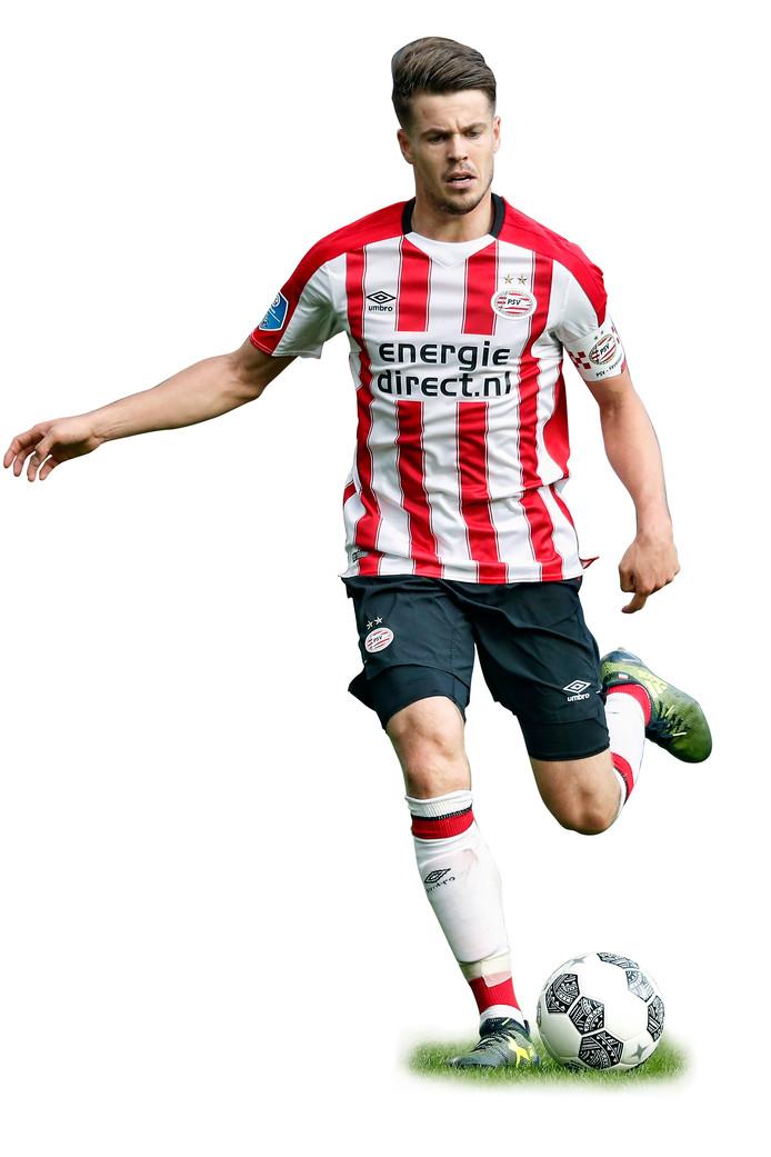 Marco van Ginkel bij PSV-Feyenoord.