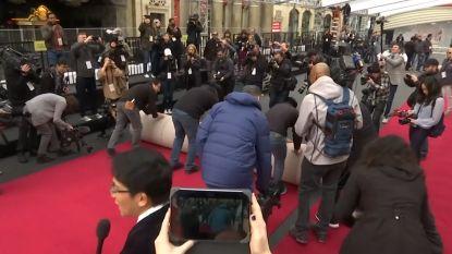VIDEO. De rode loper wordt uitgerold voor de Oscaruitreiking