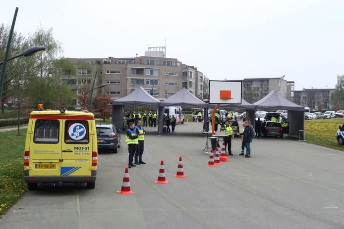 Grote controle in Etten-Leur.
