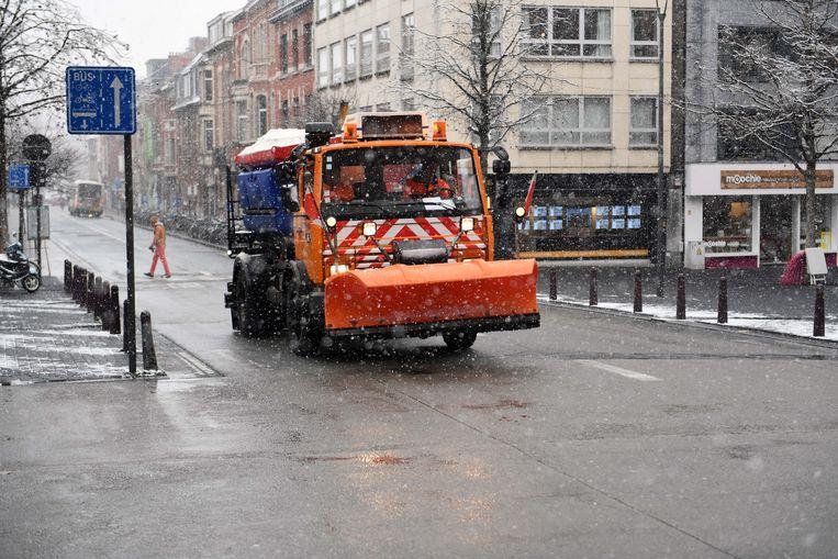 De sneeuwruimers in Leuven hebben hun job gedaan.