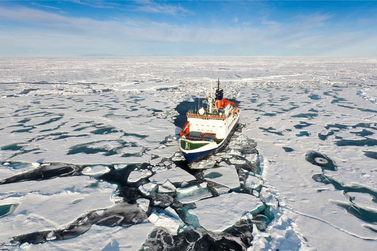 Het ijs aan de Noordpool zal elke zomer smelten.