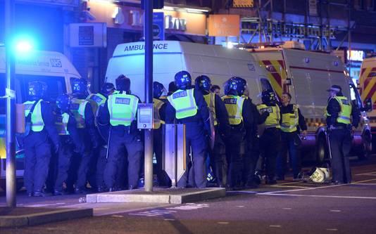 Politie op de London Bridge.