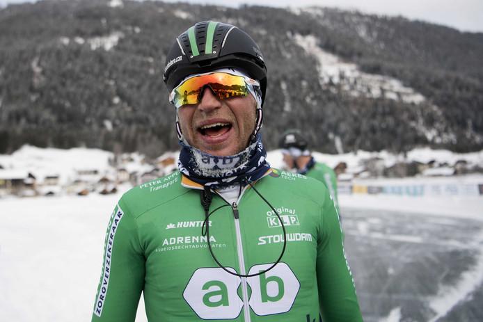 Frank Vreugdenhil wint de Alternatieve Elfstedentocht op de Weissensee.