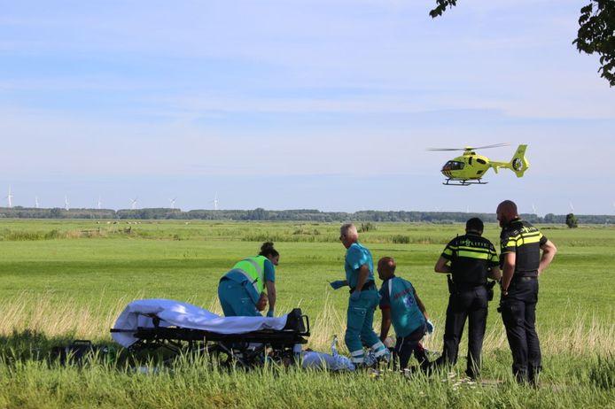Een fietser kwam hard ten val op de Bunschoterweg.