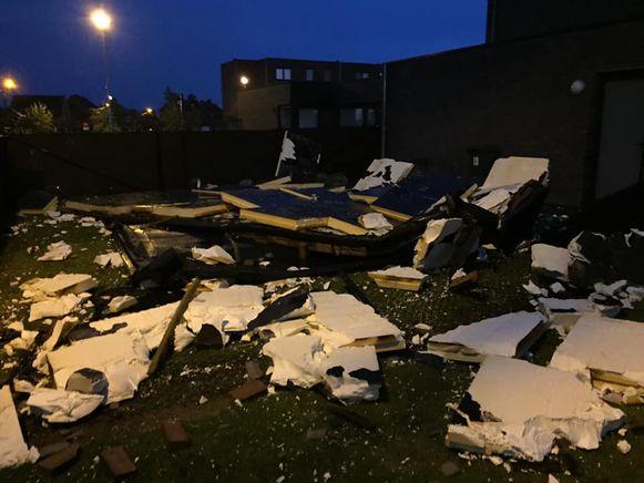 De schade aan het appartementsblok in Bungenveld is groot.