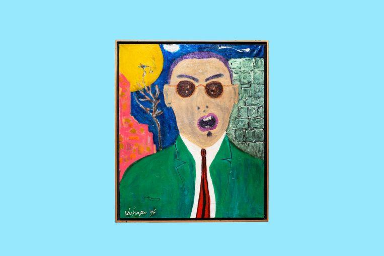 Portret van Jules Deelder. Beeld Simon Lenskens