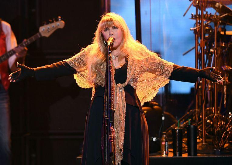 Zangeres Stevie Nicks van Fleetwood Mac, bij een vorig optreden.  Beeld AFP