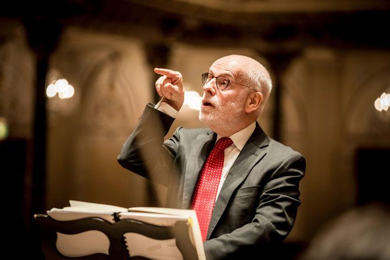 Dirigent, klavecinist, organist en muziekwetenschapper Ton Koopman Beeld Foppe Schut
