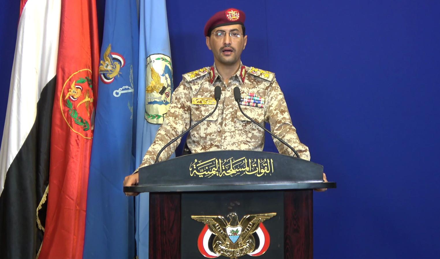 Generaal Yahya Sarre eist namens de Houthi-rebellen in Jemen de aanvallen met drones waarmee grote schade wordt toegebracht aan Saoedische olie-installaties