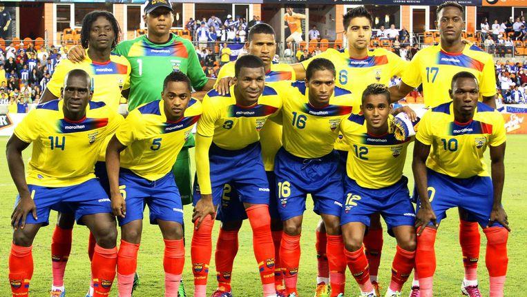 Antonio Valencia, hier met nummer 16, is de blikvanger in de Ecuadoriaanse selectie.
