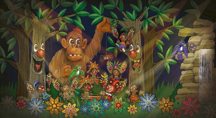Een schets van de nieuwe Afrikaanse setting in Carnaval Festival